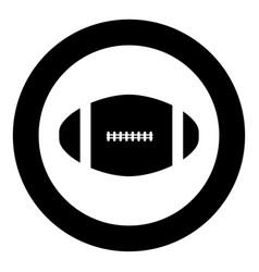 american football ball icon black color in circle vector image vector image