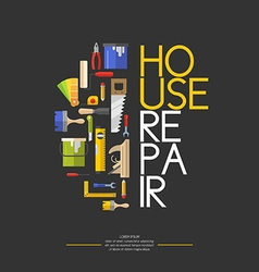 Building and house repair tools vector