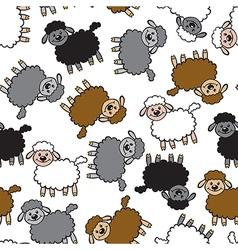 color lamb pattern vector image