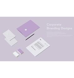Corporate identity template design Business vector image