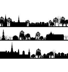 Country Landscape Set vector image
