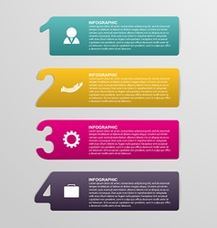 Creative colorful numbered infographic in the form vector image vector image