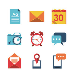 white background with application office icons vector image vector image