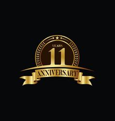 11th years anniversary logo template design vector