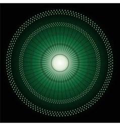 Abstract Circles mosaic dark green Backgrou vector