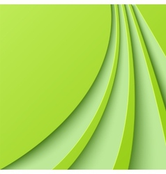 Abstract green background with curved lines vector image