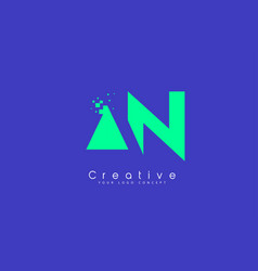an letter logo design with negative space concept vector image