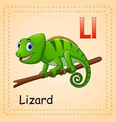 animals alphabet c is for lizard vector image