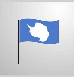 Antarctica waving flag vector