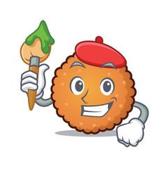 artist cookies character cartoon style vector image