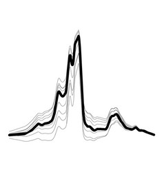audio equalizer abstract icon simple black style vector image