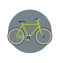 bicycle icon active tourism travel concept vector image