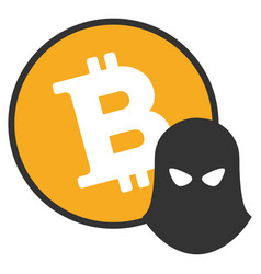 bitcoin spy flat icon vector image