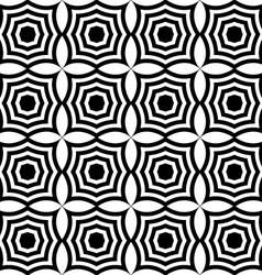Black and white pointy squares vector image