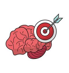 Brain target objetive marketing vector