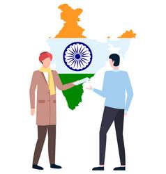 Business in india employee boss employer vector