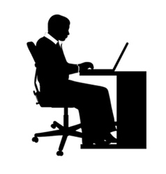 businessman at desk vector image