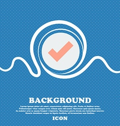 Check mark sign icon Confirm approved symbol Blue vector