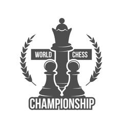 chess label badge and design element vector image