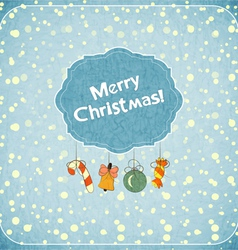 Christmas retro greeting Card vector