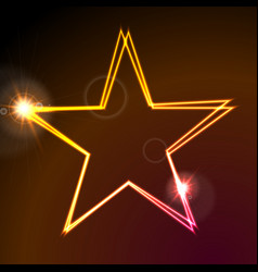 colorful glowing neon abstract star background vector image