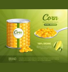 Corn advertising composition vector