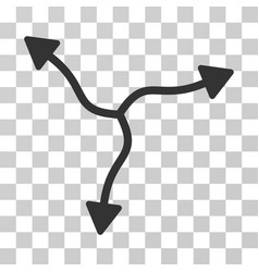 Curve arrows icon vector