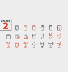 drinks food ui pixel perfect well-crafted vector image