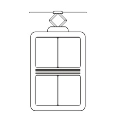 Elevator device icon vector