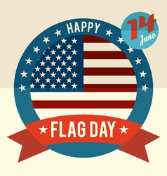 Flag Day of united states flat design card vector image
