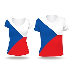 Flag shirt design of Czech Republic vector image