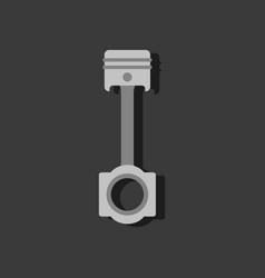 Flat icon design car piston in sticker style vector
