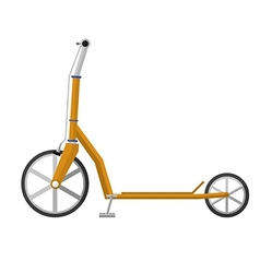 Flat of electrical scooter vector