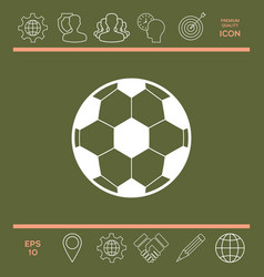 football symbol soccer ball icon vector image