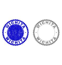 Grunge wichita scratched watermarks vector