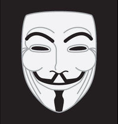 guyfawkes mask vector image