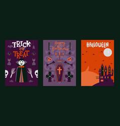 halloween banners set of vector image