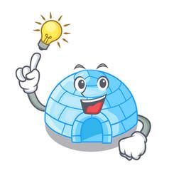 Have an idea cartoon ice house igloo on snowing vector