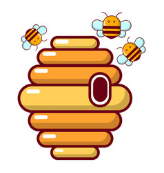 Hive icon cartoon style vector