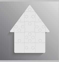 House puzzle 4 pieces jigsaw renting leasing vector