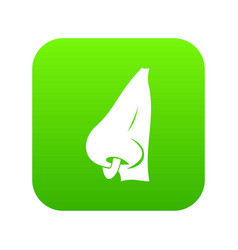 human nose with piercing icon digital green vector image