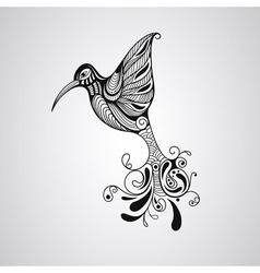 Hummingbird tattoo style vector image