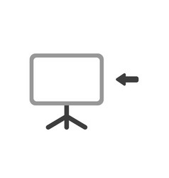 icon concept of blank presentation chart with vector image