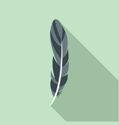 ink feather icon flat style vector image