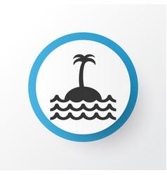 Island icon symbol premium quality isolated reef vector