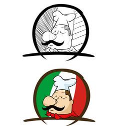 italian people colored mascot logo premium vector image