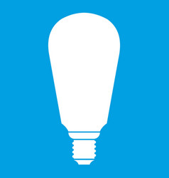 Light bulb icon white vector