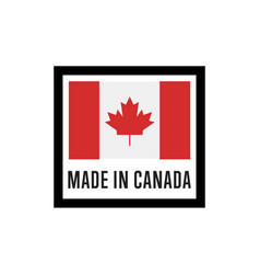 made in canada isolated label for products vector image