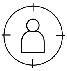 man in target icon vector image