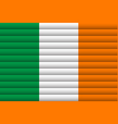 national flag ireland for independence day vector image